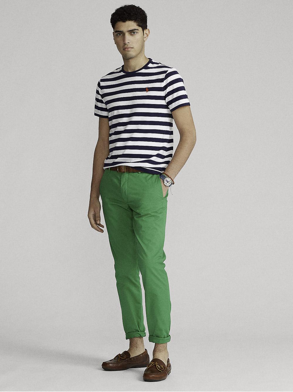 POLO RALPH LAUREN Μπλούζα T-Shirt 710823560002 ΡΙΓΕ ΜΠΛΕ