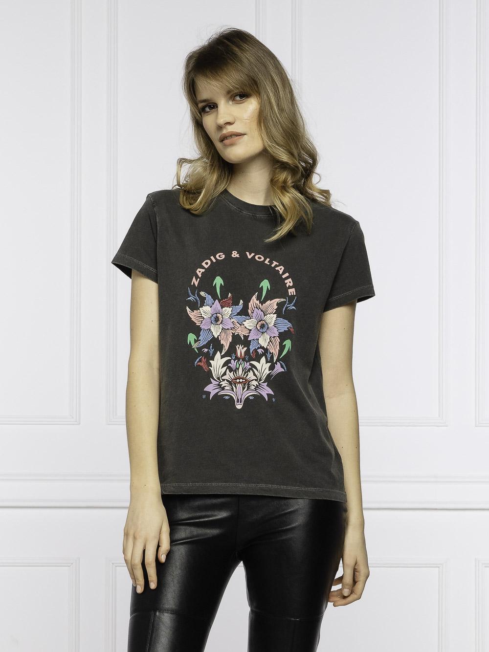ZADIG & VOLTAIRE Μπλούζα T-Shirt SKTS1805F ΓΚΡΙ