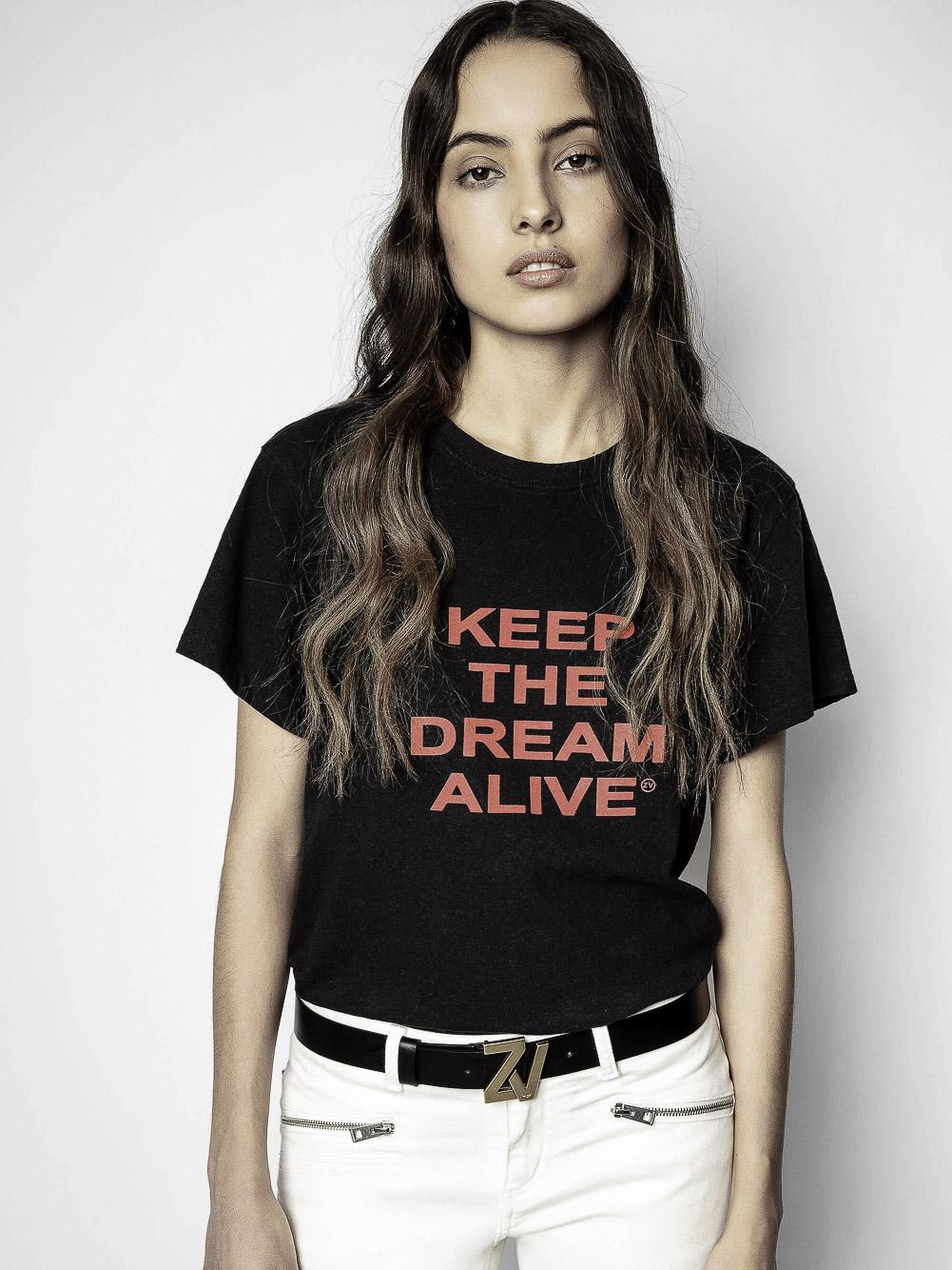 ZADIG & VOLTAIRE Μπλούζα T-Shirt SKTR1803F ΜΑΥΡΟ