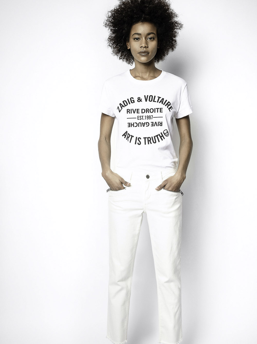 ZADIG & VOLTAIRE Μπλούζα T-Shirt PWGTR1802F ΛΕΥΚΟ