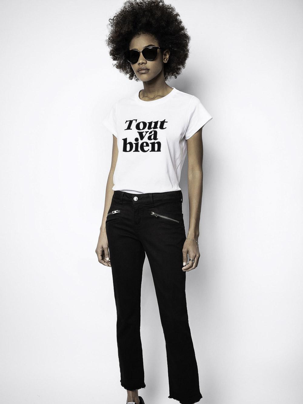 ZADIG & VOLTAIRE Μπλούζα T-Shirt SKTR1805F ΛΕΥΚΟ