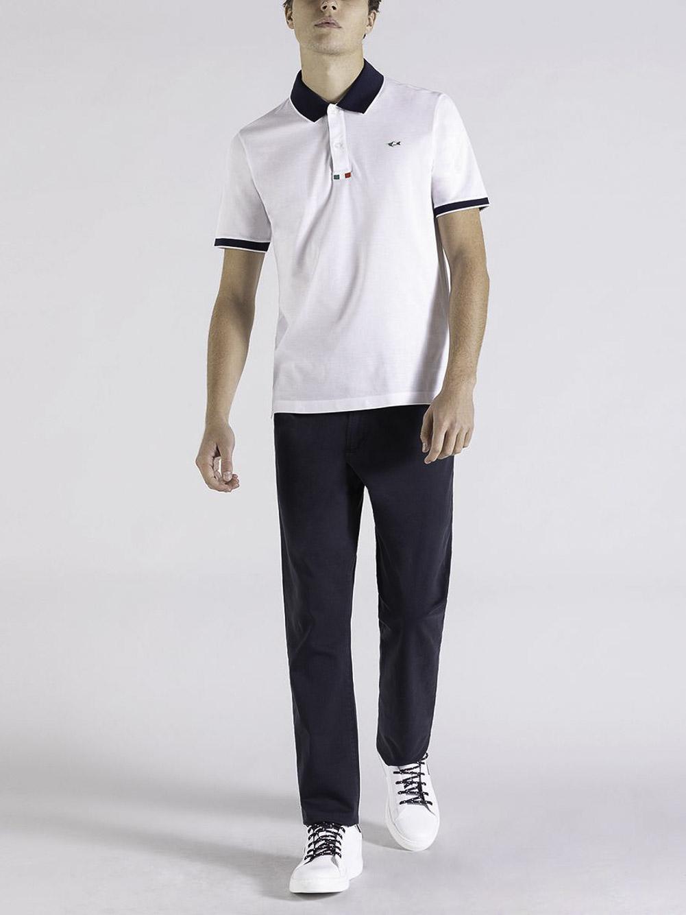 PAUL & SHARK Μπλούζα Polo 21411217-010 ΛΕΥΚΟ