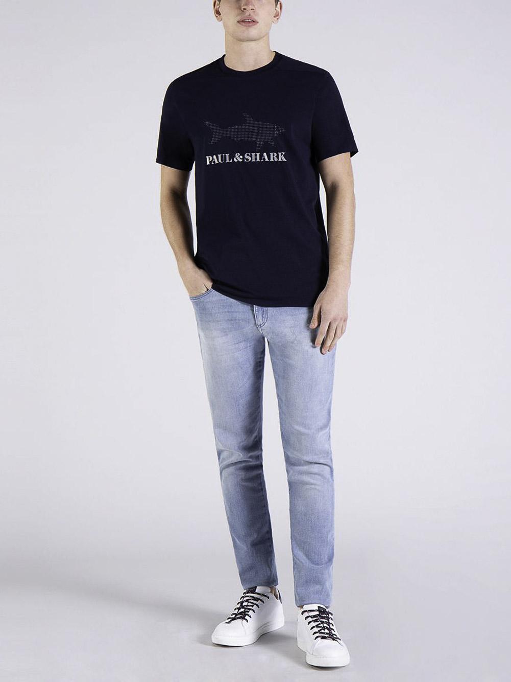 PAUL & SHARK Μπλούζα T-Shirt 21411019-013 ΜΠΛΕ