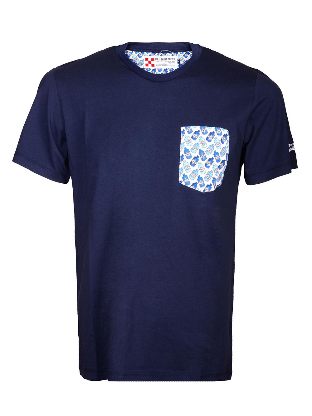Mc2 St.BarthSALT WATER Μπλούζα t-shirt BLANCHE ΜΠΛΕ