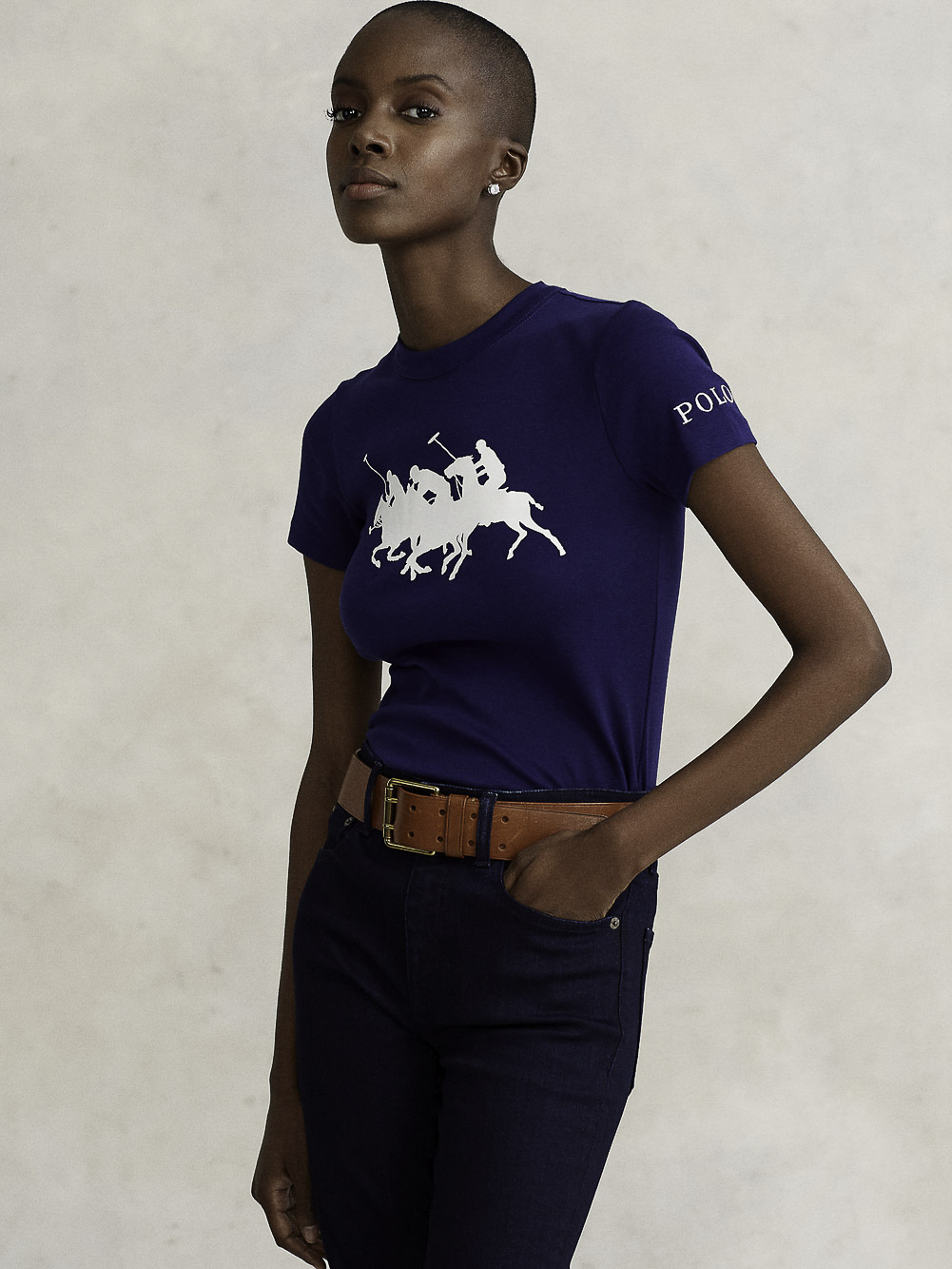 POLO RALPH LAUREN Μπλούζα t-shirt 211839186003 ΜΠΛΕ