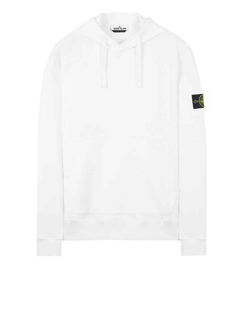 STONE ISLAND Μπλούζα φούτερ με κουκούλα MO751564120-V0001 ΛΕΥΚΟ