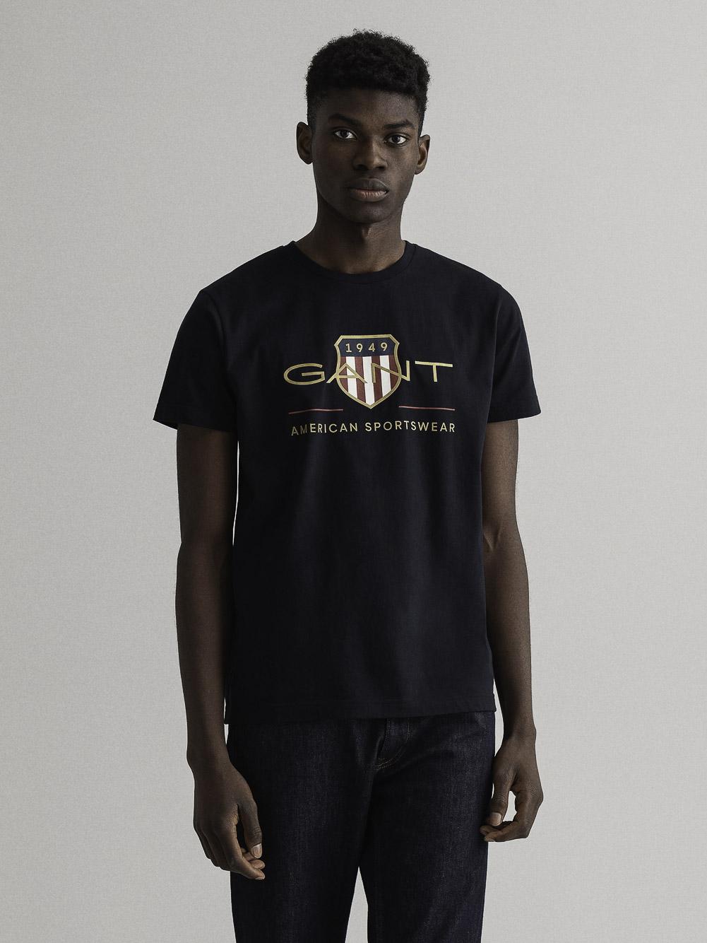 GANT Mπλούζα t-shirt 3G2003099-5 ΜΑΥΡΟ